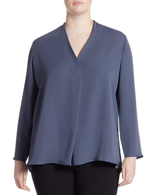NIC+ZOE - Blue Plus Size Majestic Matte Shirt - Lyst