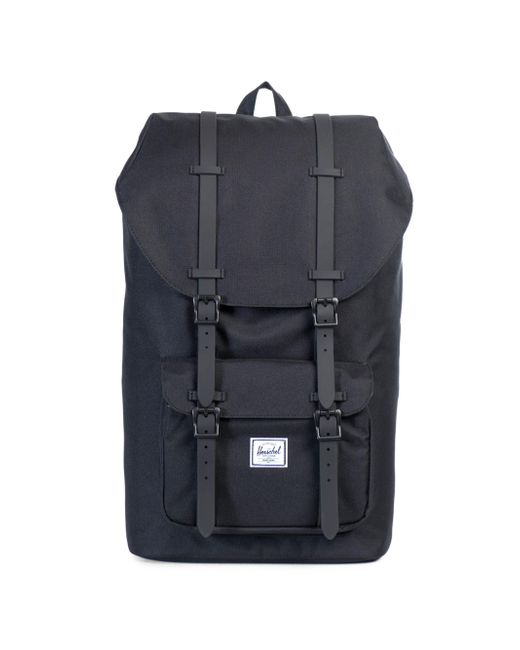 Herschel Supply Co. - Black Little America Leather And Canvas Blend Backpack for Men - Lyst