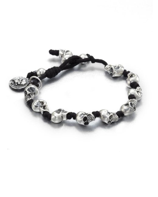 King Baby Studio - Metallic Knotted Cord Bracelet - Lyst