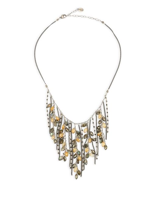 Chan Luu - Multicolor Pyrite Mix Fringe Necklace - Lyst