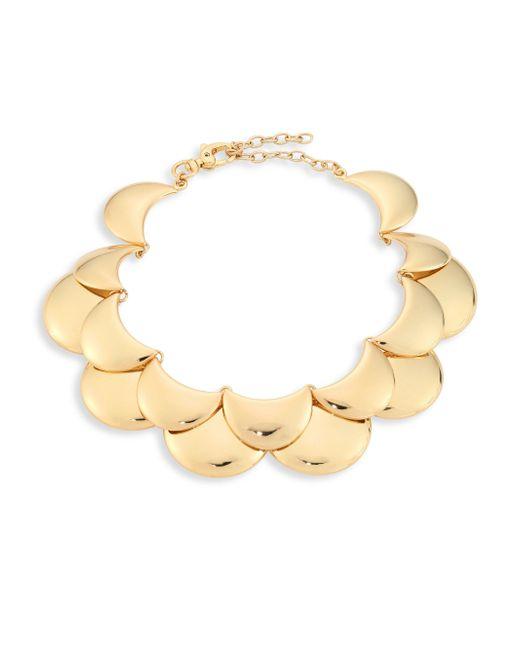 Lele Sadoughi   Metallic Golden Cove Bib Necklace   Lyst