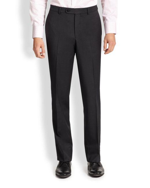 Saks Fifth Avenue - Gray Wool Dress Pants for Men - Lyst