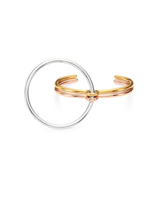 Charlotte Chesnais - Metallic Three Lovers Tri-tone Bracelet - Lyst