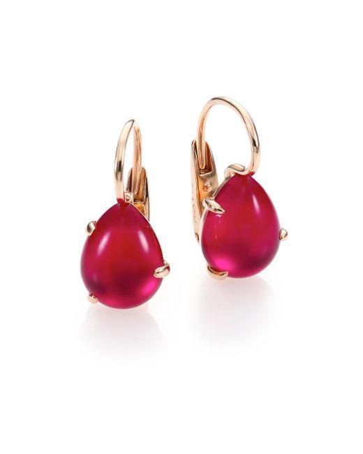 Pomellato - Pink Rouge Passion Teardrop Earrings - Lyst