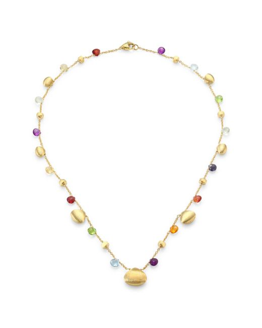 Marco Bicego - Metallic Paradise Semi-precious Multi-stone Graduated Short Necklace - Lyst