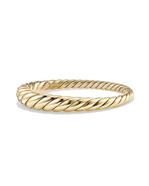 David Yurman - Metallic Pure Form Cable Bracelet In 18k Yellow Gold - Lyst