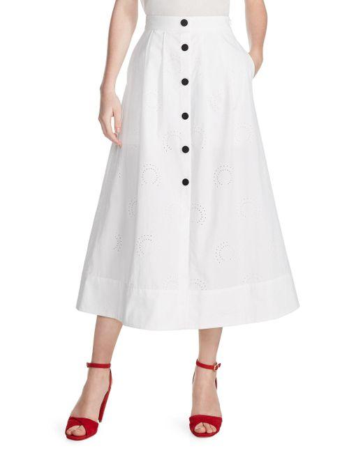 Maje - White Jupali Button-front Skirt - Lyst