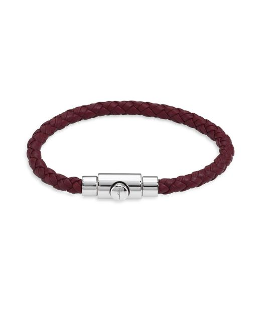 Ferragamo | Brown Braided Bracelet | Lyst