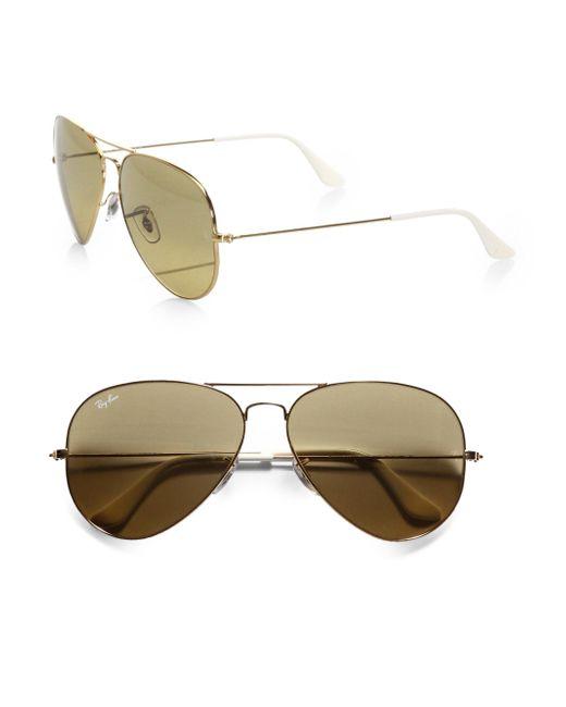 Ray-Ban - Natural Original Metal Aviator Sunglasses - Lyst