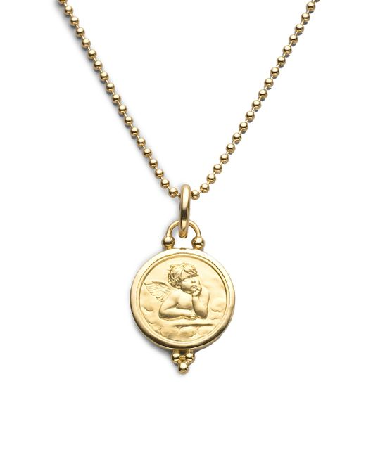 Temple St. Clair | Metallic Angel 18k Yellow Gold Medium Pendant | Lyst