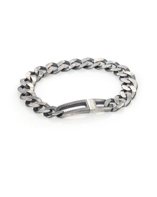 Tateossian - Metallic Grumette Silver Bracelet for Men - Lyst