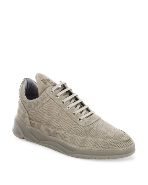 Filling Pieces | Gray Astro Striped Suede Low-top Sneakers for Men | Lyst