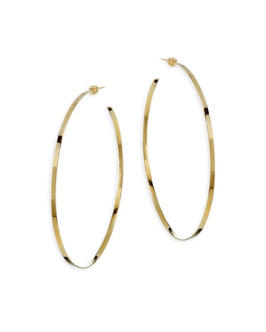 Jennifer Zeuner - Metallic Jennifer Yellow Vermeil Hoop Earrings - Lyst