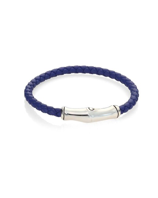 John Hardy - Multicolor Bamboo Collection Leather Bracelet for Men - Lyst