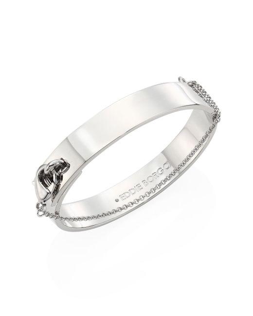 Eddie Borgo | Multicolor Medium Safety Chain Cuff/silvertone | Lyst