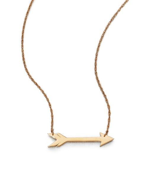 Jennifer Zeuner - Yellow Arrow Necklace - Lyst