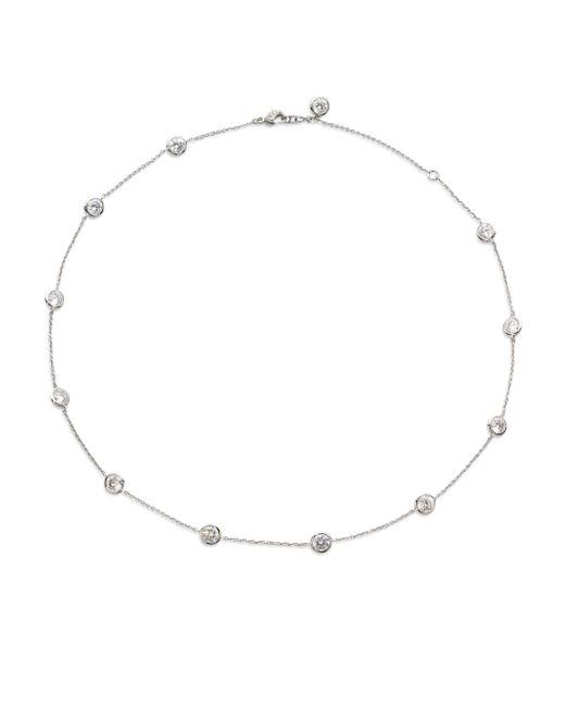 Adriana Orsini   Metallic Bezel-set Stationed Necklace   Lyst