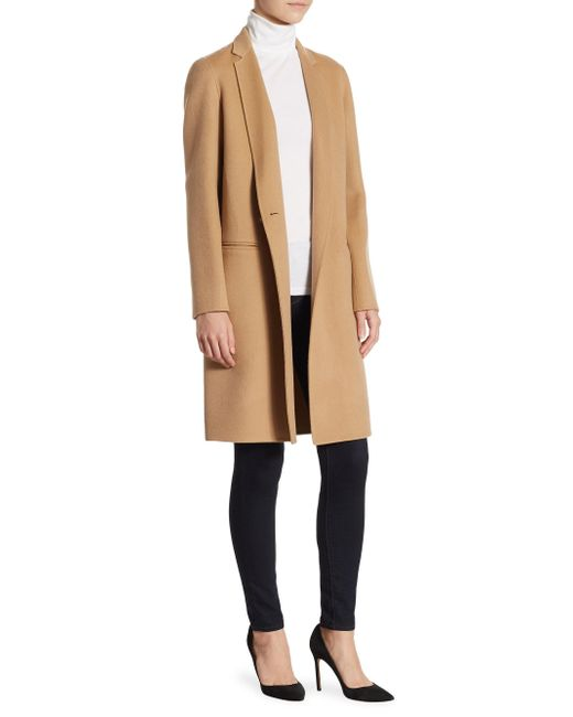 Theory | Natural Essential Long Coat | Lyst