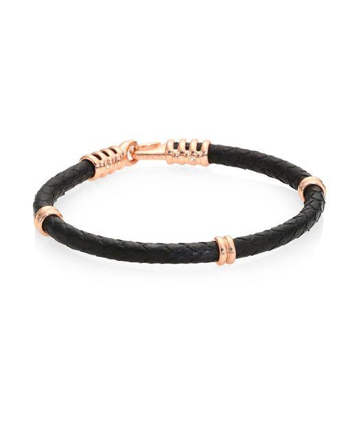 Stinghd | Black Silver Python Bracelet | Lyst