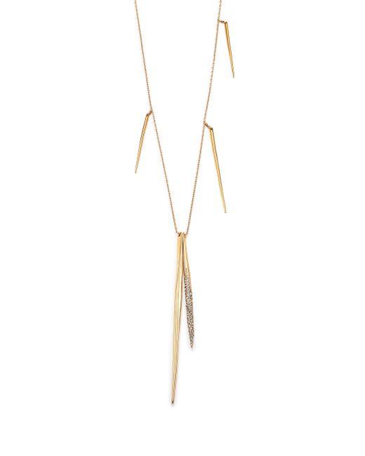 Alexis Bittar | Metallic Miss Havisham Crystal Long Spear Necklace/goldtone | Lyst