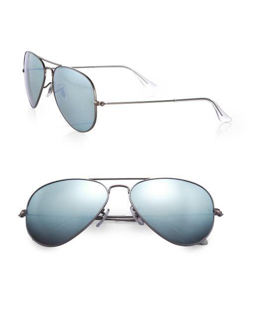 Ray-Ban   Metallic Original Aviator Sunglasses   Lyst