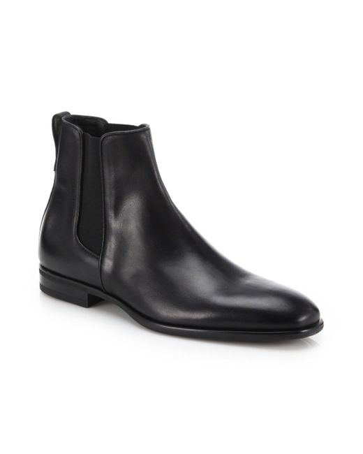 2c35becf8dc Aquatalia - Men s Adrian Leather Chelsea Boots - Black for Men - Lyst ...