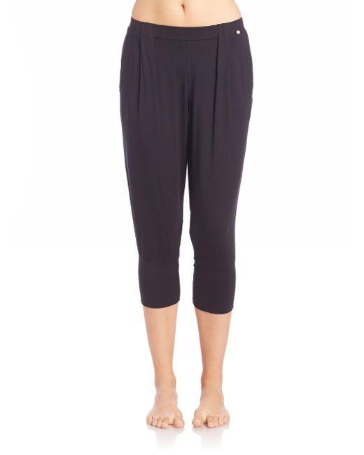 Hanro - Black Yoga Fashion Cropped Lounge Pants - Lyst