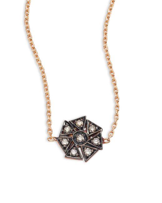 Kismet by Milka - Metallic Geometrical Champagne Diamond & 14k Rose Gold Choker - Lyst