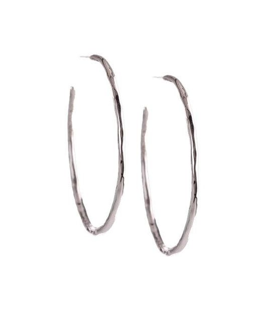 Ippolita - Metallic Glamazon Sterling Silver Squiggle #3 Hoop Earrings/1.7 for Men - Lyst