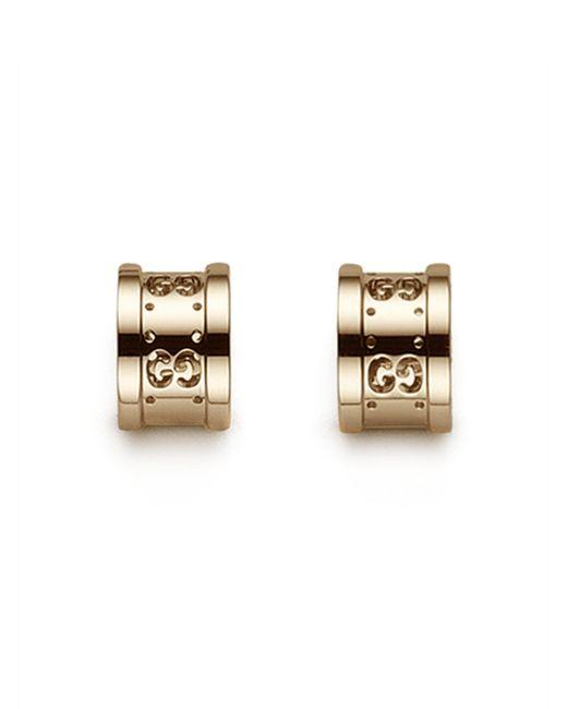 Gucci - Metallic 18k Gold Logo Earrings - Lyst