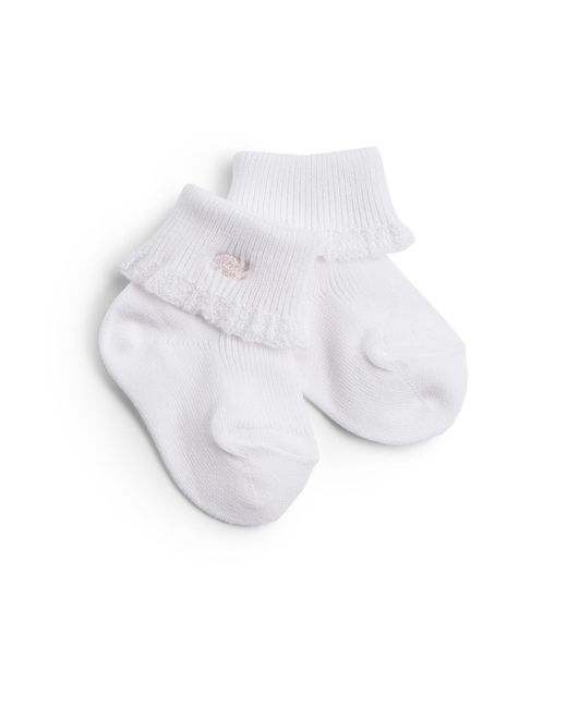 Ralph Lauren - Pink Infant's Lace-trimmed Cotton Socks - Lyst