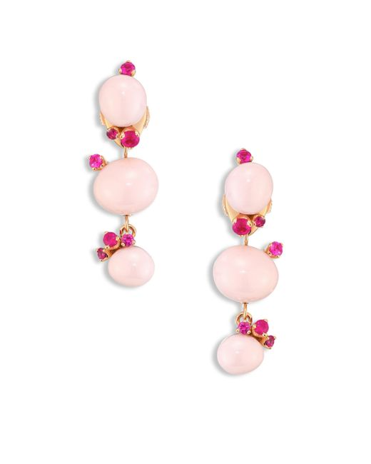 Pomellato - Rubies, Pink Ceramic & 18k Rose Gold Drop Earrings - Lyst
