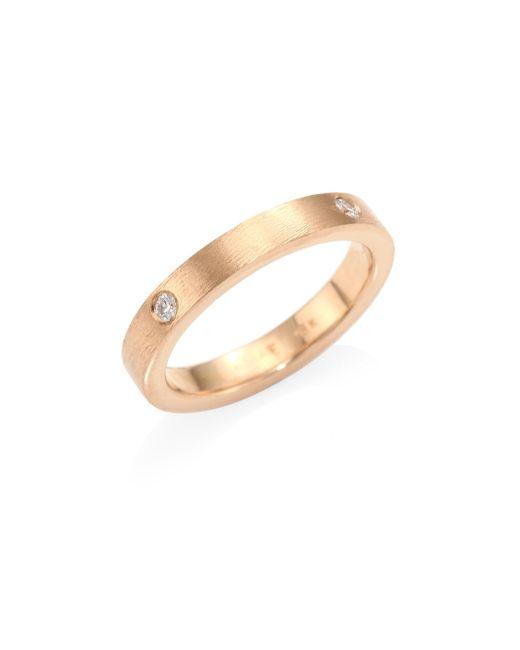 Rene Escobar - Metallic Diana Diamond & 18k Rose Gold Band Ring - Lyst