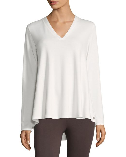 Natori - White Zen Terry V-neck Top - Lyst