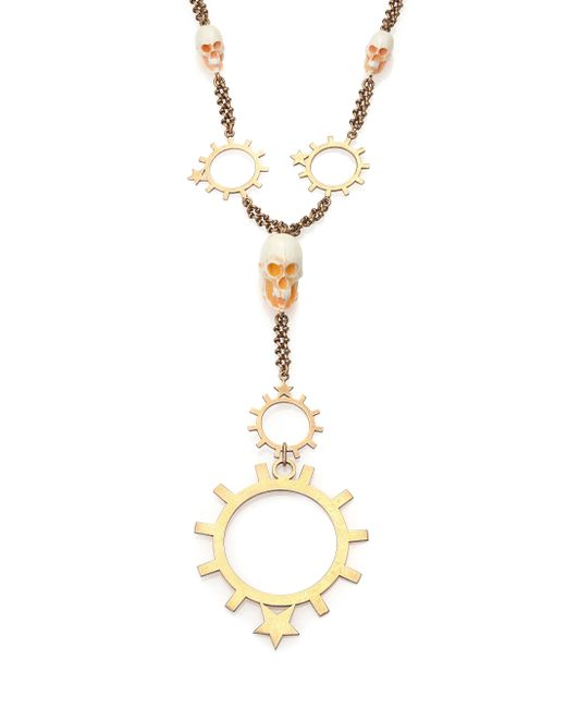 Givenchy - Metallic Rosary Pendant Necklace for Men - Lyst