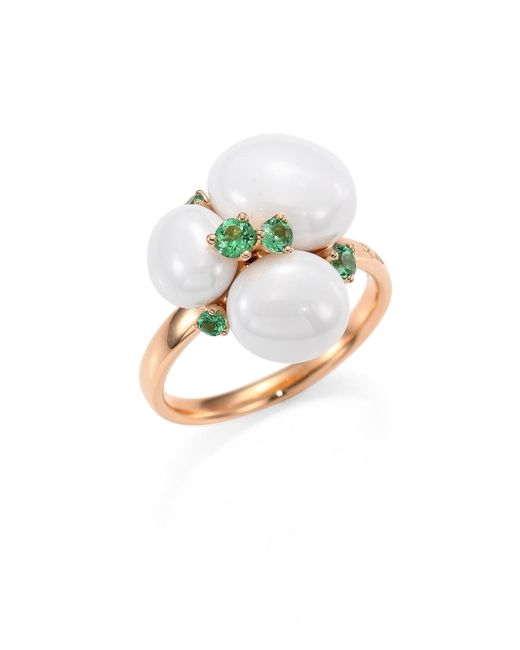 Pomellato | Metallic Tsavorite, Ceramic & 18k Rose Gold Ring | Lyst