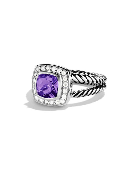 David Yurman - Multicolor Petite Albion Ring With Diamonds - Lyst