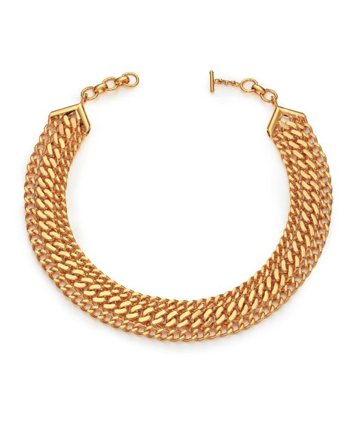 House of Lavande | Metallic Batari Triple-chain Collar Necklace | Lyst