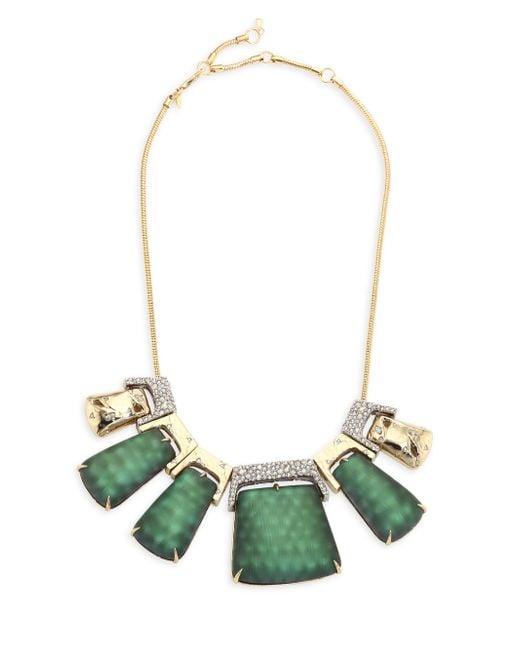 Alexis Bittar | Multicolor Lucite Rocky Metal Bib Necklace | Lyst