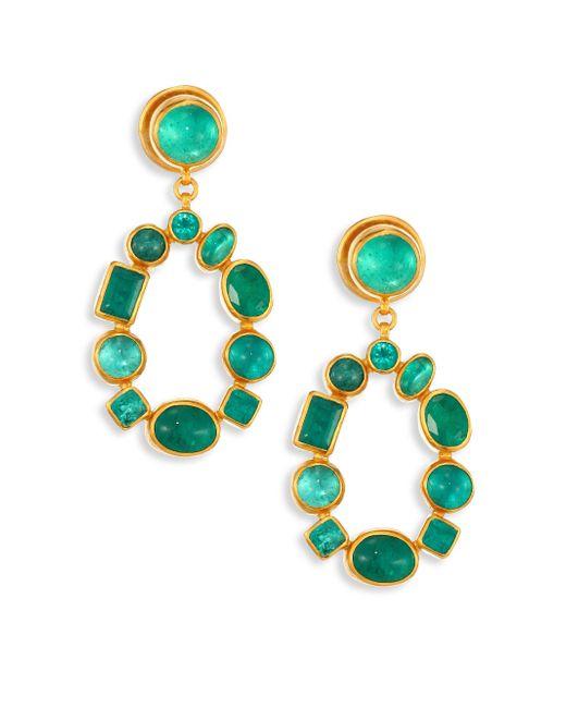 Gurhan | Multicolor Amulet Hue Emerald & 24k Yellow Gold Drop Earrings | Lyst
