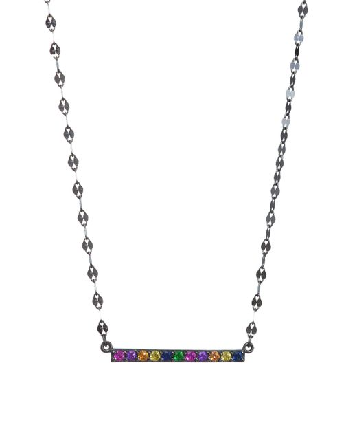 Lana Jewelry | Multicolor 14k Black Gold Sapphire Bar Charm Necklace | Lyst