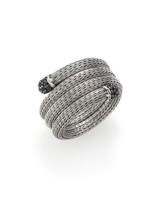John Hardy | Metallic Classic Chain Black Sapphire & Sterling Silver Multi-row Coil Ring | Lyst