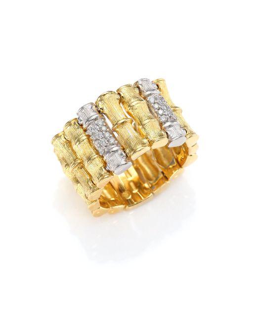 Roberto Coin | Metallic Bonsai Diamond, 18k Yellow Gold & 18k White Gold Ring | Lyst
