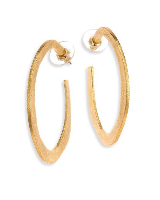 Stephanie Kantis | Metallic Organic Hoop Earrings/2.5 | Lyst