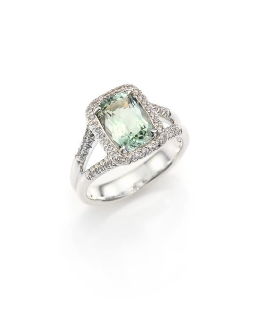 John Hardy - Green Classic Chain Diamond, Prasiolite & Sterling Silver Ring - Lyst