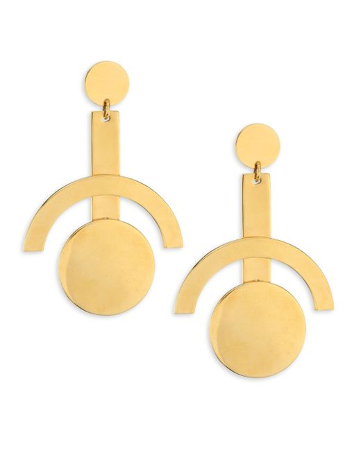 Lele Sadoughi | Metallic Concrete Jungle Telescope Earrings | Lyst