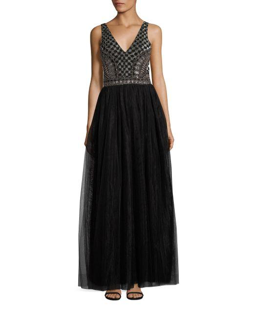 Parker Black | Black Courtney Embellished Gown | Lyst