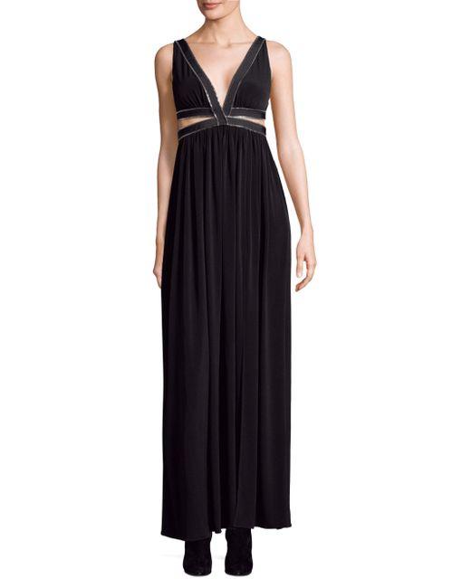 Each x Other - Black Maxi Zip Detail Dress - Lyst