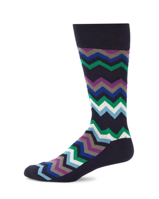 Paul Smith - Blue Fleet Chevron Socks for Men - Lyst