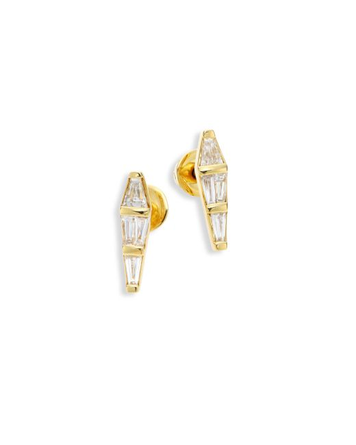 Nikos Koulis | Metallic Spectrum Tapered Diamond & 18k Yellow Gold Stud Earrings | Lyst